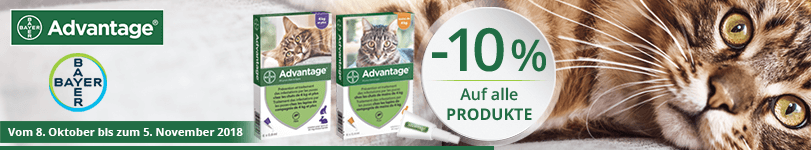 -10% auf alle Bayer Santé Animale Advantage Produkte