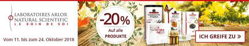 -20% auf alle Arlor Natural Scientific Produkte
