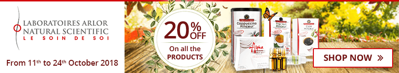 20% off on all the Arlor Natural Scientific products