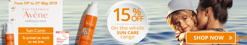 15% off on the whole Avène Sun Care range