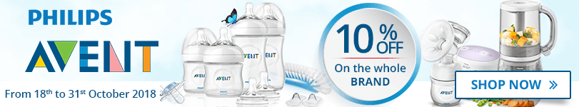 10% off on all the Avent products