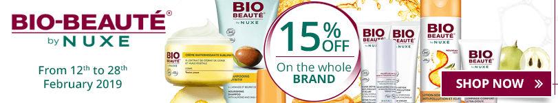 15% off on all the Bio Beauté products