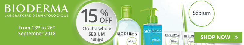 15% off on the whole Bioderma Sébium range
