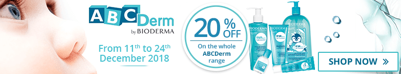 20% off on the whole Bioderma ABCDerm range