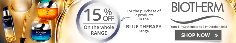 15% off on the whole Biotherm Blue Therapy range