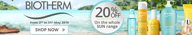20% off on the whole Biotherm Sun range