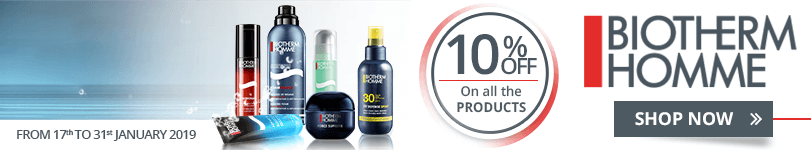 10% off on all the Biotherm Homme products
