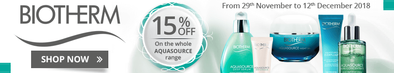 15% off on the whole Biotherm Aquasource range