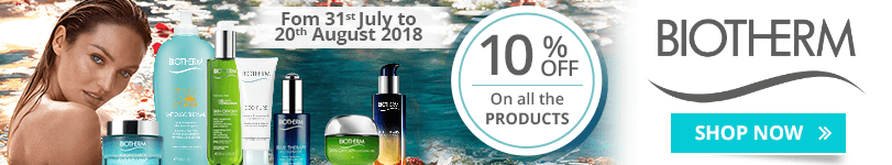 10% off on all the Biotherm products