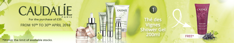 For the purchase of £35 of Caudalie products = 1 FREE* Caudalie Thé des Vignes Shower Gel 200ml