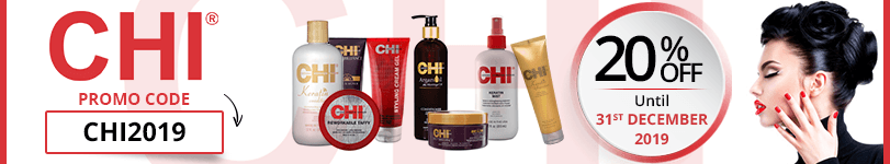 20% off on all the Chi products with the promo code : CHI2019