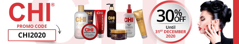 30% off on all the Chi products with the promo code: CHI2020