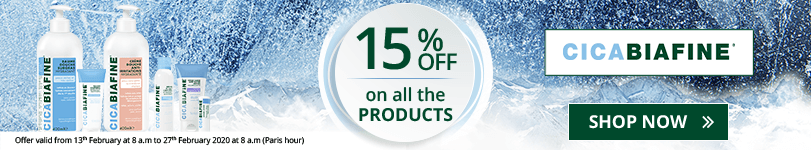 15% off on all the CicaBiafine products