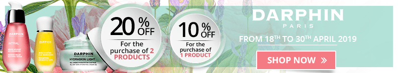 1 Darphin product purchased = 10% off. 2 Darphin products purchased = 20% off