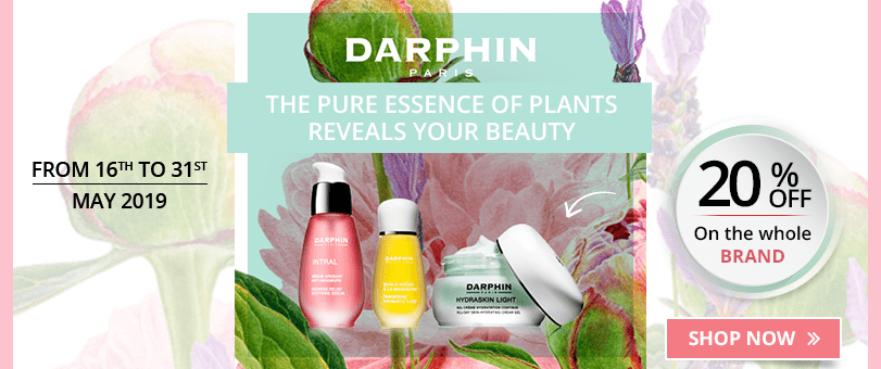 20% off on all the Darphin products