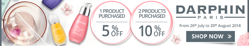 1 Darphin product purchased = 5% off. 2 Darphin products purchased = 10% off