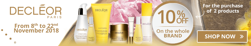 For the purchase of 2 Decleor products = 10% off