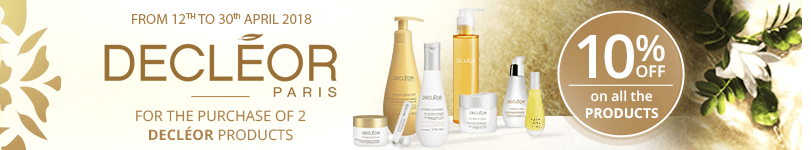 2 Decléor products purchased = 10% off