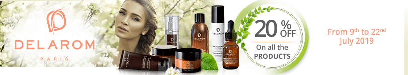 20% off on all the Delarom products