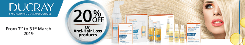 Ducray : 20% off on Anti-Hair Loss products
