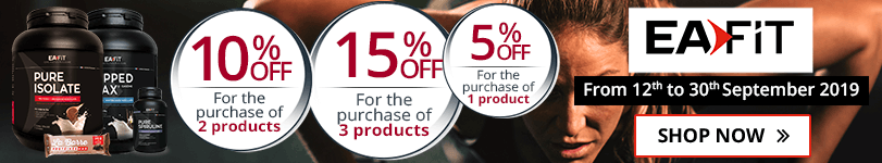1 Eafit product purchased = 5% off. 2 Eafit products purchased = 10% off. 3 Eafit products purchased = 15% off