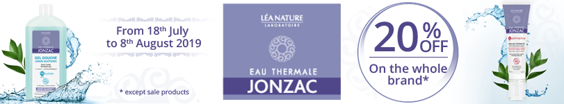 20% off on all the Eau de Jonzac products