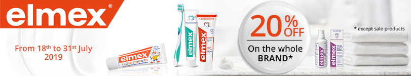 20% off on all the Elmex products