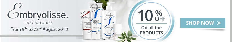 10% off on all the Embryolisse products