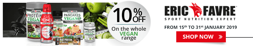10% off on the whole Eric Favre Vegan range