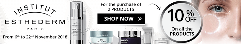 10% off on all the Institut Esthederm products