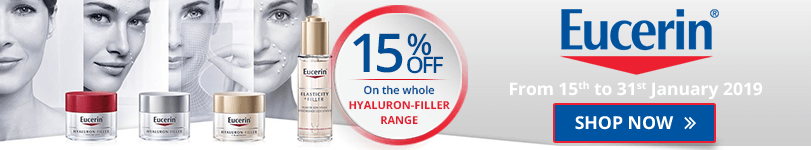 15% off on the whole Eucerin Hyaluron-Filler range
