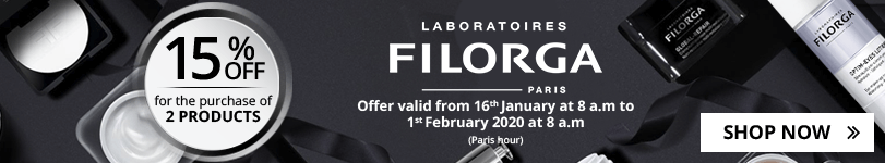For the purchase of 2 Filorga products = 15% off