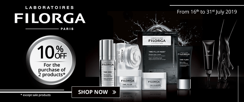 For the purchase of 2 Filorga products = 10% off