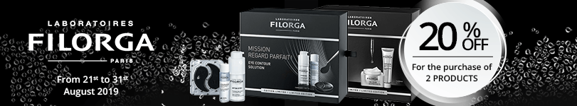 For the purchase of 2 Filorga products = 20% off