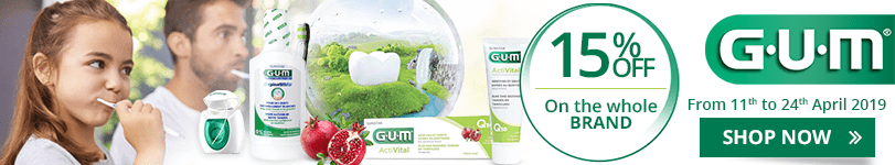 15% off on all the GUM products