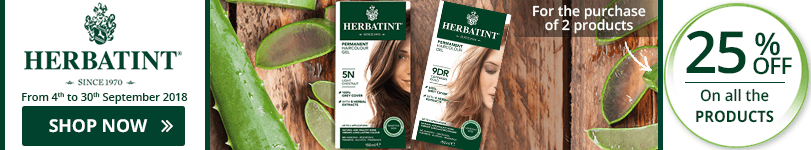 For the purchase of 2 Herbatint products = 25% off