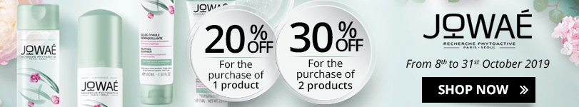 1 Jowaé product purchased = 20% off. 2 Jowaé products purchased = 30% off