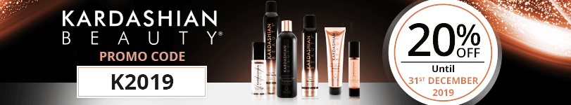 20% off on all the Kardashian Beauty products with the promo code: K2019