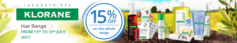 15% off on the whole Klorane Hair range