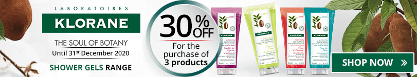 30% off on the whole Klorane Shower Gels range