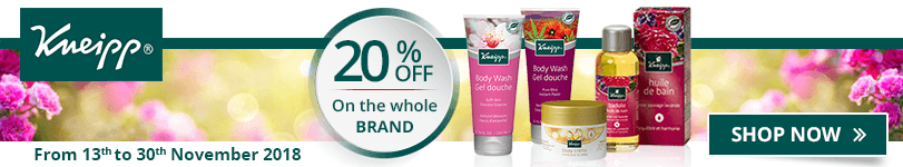 20% off on all the Kneipp products