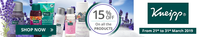 15% off on all the Kneipp products