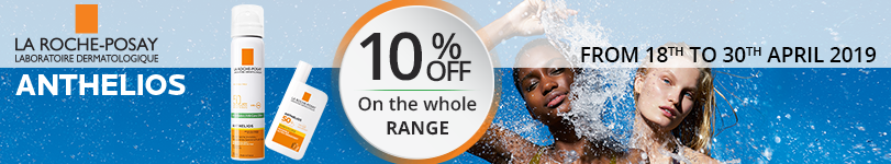 10% off on the whole La Roche-Posay Anthelios range