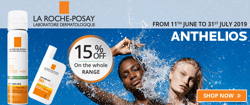 15% off on the whole La Roche-Posay Anthelios range
