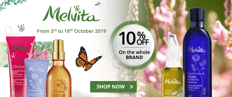 10% off on all the Melvita products