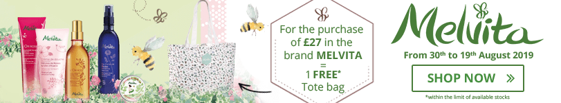 For the purchase of £ 27 in the Melvita brand = 1 FREE Tote Bag