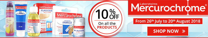 10% off on all the Mercurochrome products