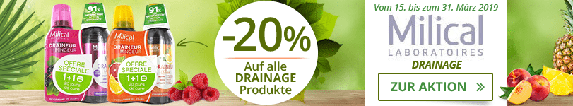 Milical: -20% auf all Drainage Produkte