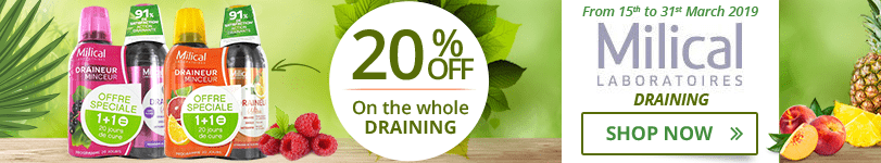 Milical: 20% off on the whole Draining