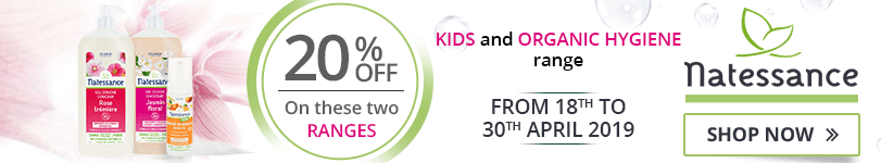20% off on the Natessance Kids and Organic Hygiene ranges